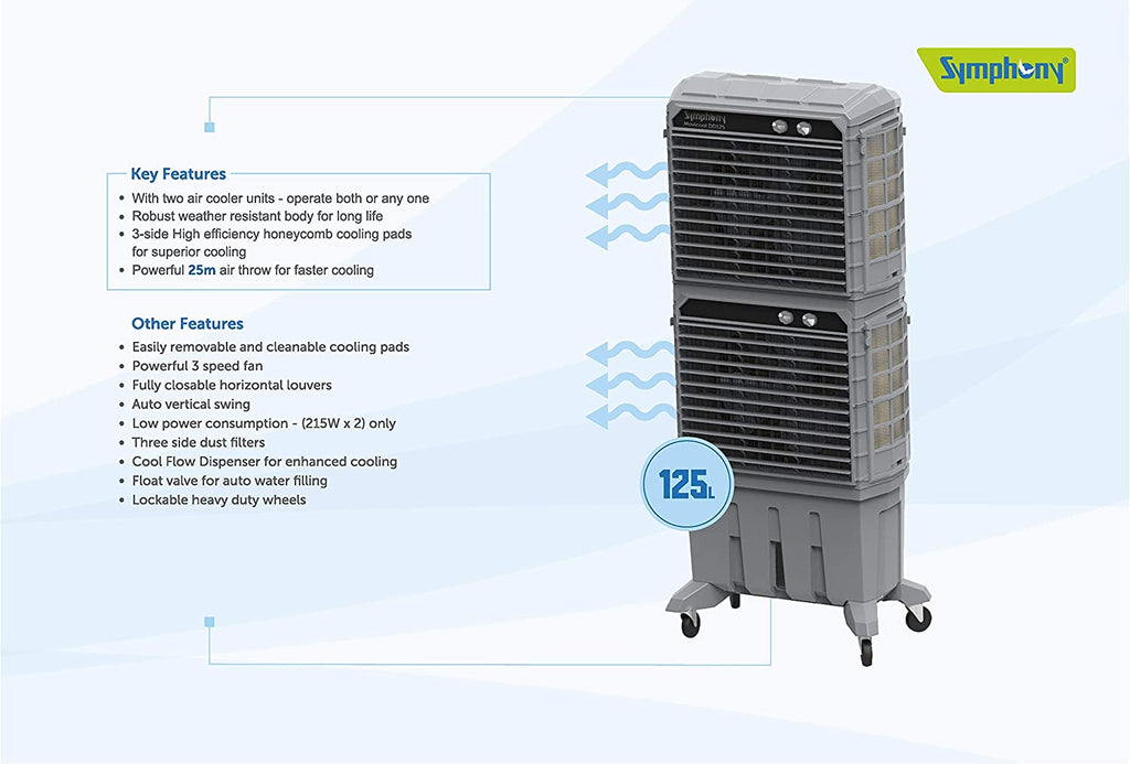 Symphony Movicool DD125 Commercial Cooler Double Decker