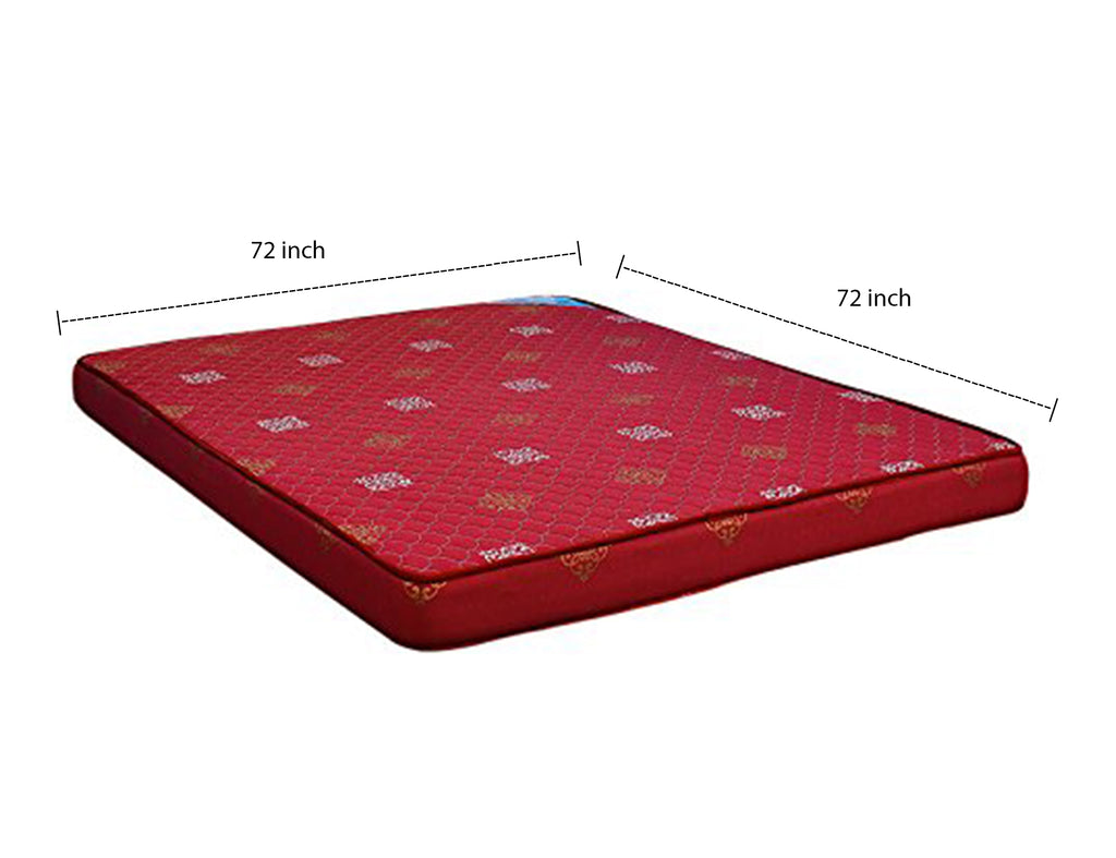 Nilkamal Sneham XL 5-inch Single Size Mattress (Maroon, 72x72x5) - HOMEGENIC
