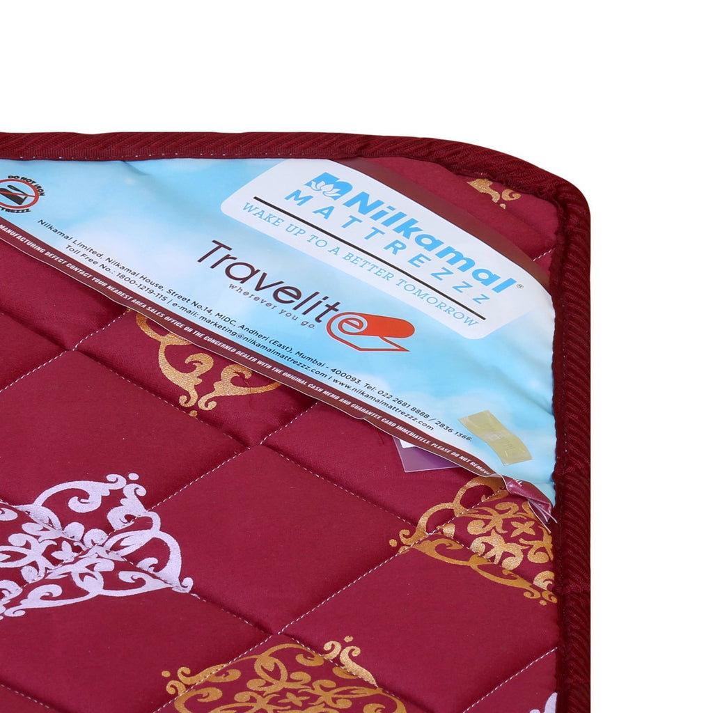 Smart Plywood Folding Guest Bed with Complimentary Mattress & Pillow (6x3) - VOCAL FOR LOCAL Project - HOMEGENIC
