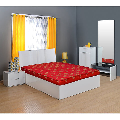 Nilkamal Sparkle 4-inch Single Size Foam Mattress (Maroon, 72x48x4) - HOMEGENIC