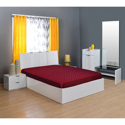Nilkamal Executive 5-inch Full Size Foam Mattress (Maroon, 72x72x5) - HOMEGENIC