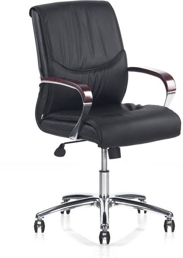 Nilkamal Boss Admiral Mid Back Office Chair (Black)