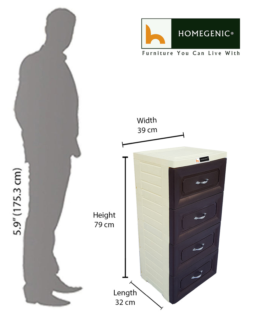 Homegenic Store-it Drawer Chester 4 shelves with Wheels - HOMEGENIC