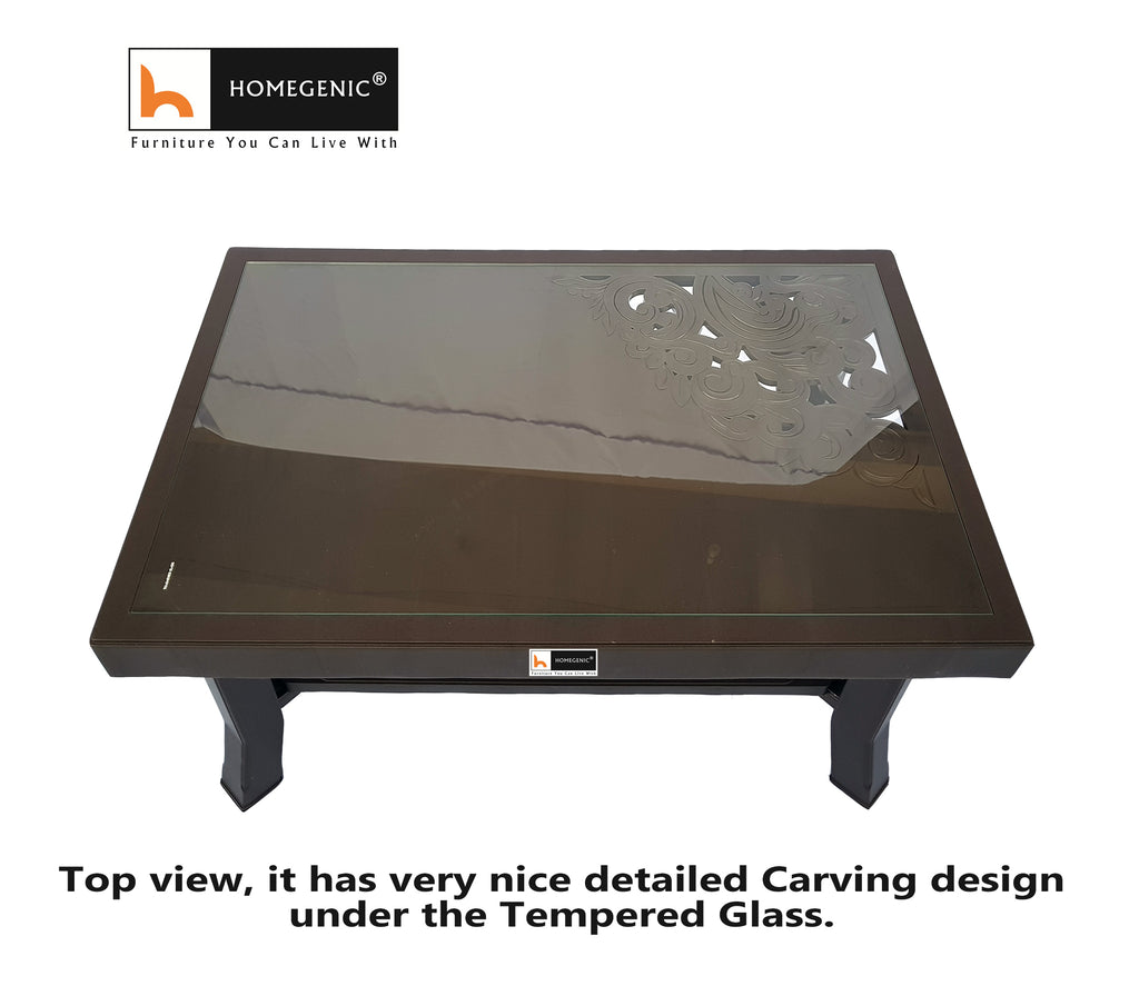 Rogue Coffee Table with Tempered Glass - HOMEGENIC