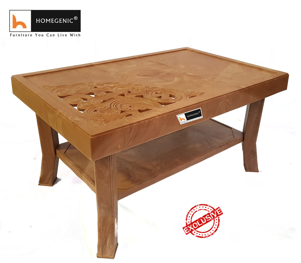 Rogue Coffee Table Set with Diamond Chairs (1+4) Pear Wood - HOMEGENIC