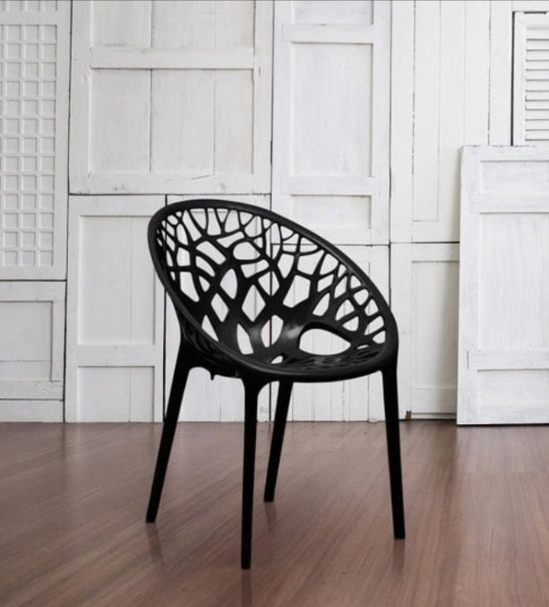 Nilkamal Crystal PP Chairs (Black Color)
