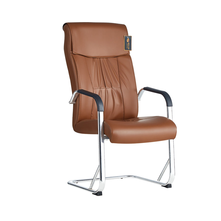Homegenic Office Visitor Chair B816 (Brown Color)