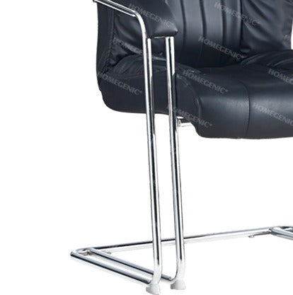 Homegenic S Type Cantilever Mesh Office Visitor Chairs (Stainless Steel) Double Pipe - HOMEGENIC