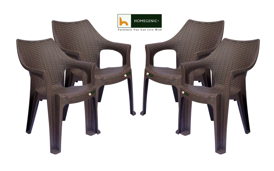 Homegenic Safari Rattan Design Moulded Chair - HOMEGENIC