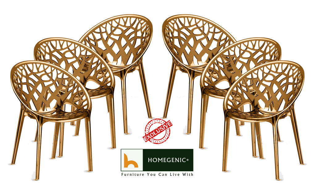 Nilkamal Crystal PC Chairs (Umbra Translucent) - HOMEGENIC