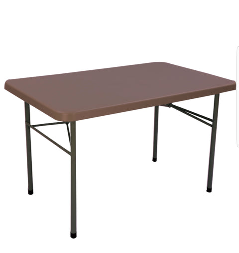 Buffet Blow Mould Rectangular Table (Globus Brown) - HOMEGENIC