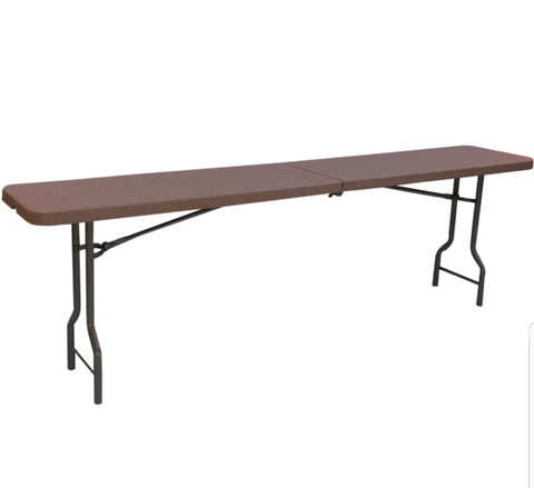 Amaze Blow Mould Rectangular Table (Globus Brown) - HOMEGENIC
