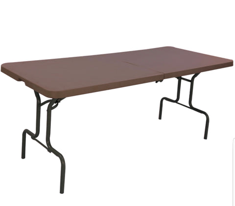 Sharp Blow Mould Rectangular Table (Globus Brown) - HOMEGENIC