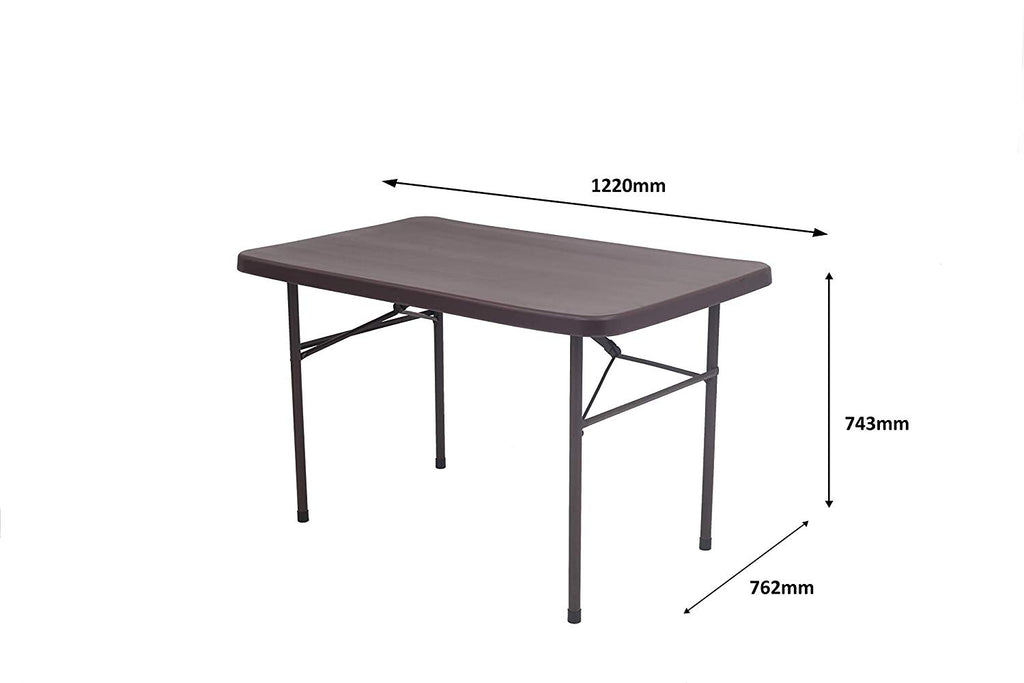 Supreme Swiss Blow Mould Dining Table (4 Feet) Rectangular - HOMEGENIC