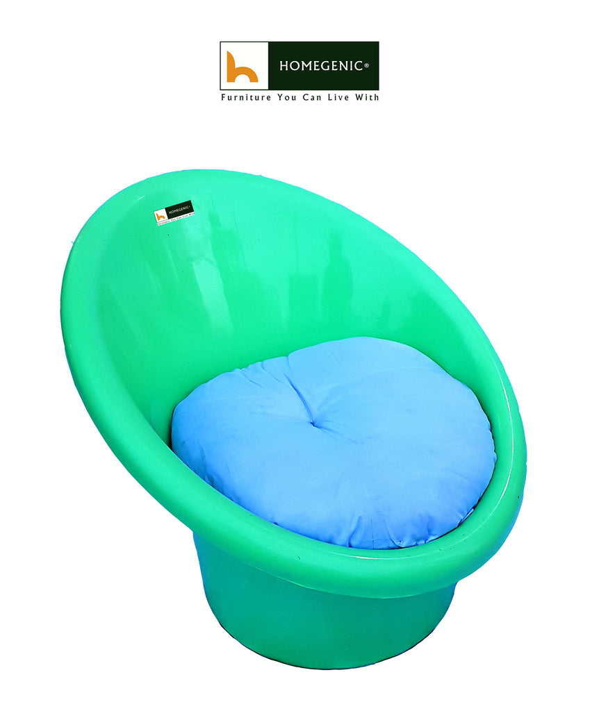 National Tub Chair With Complimentary Cushions Green Color Set Of