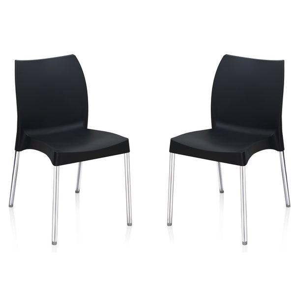 Nilkamal Premium Chairs Set of 02 (Black) - HOMEGENIC