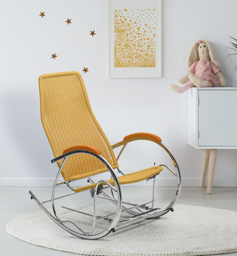 Nilkamal Wegner Rocking Chair for Home and Garden