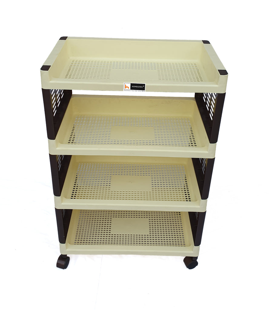 Homegenic Trolly Racks Big & Small 4 shelves with Wheels - HOMEGENIC