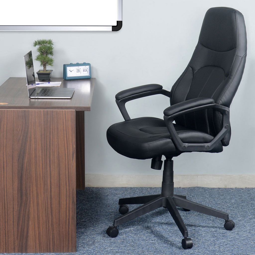 Nilkamal Luzo High Back Office Chair (Black).