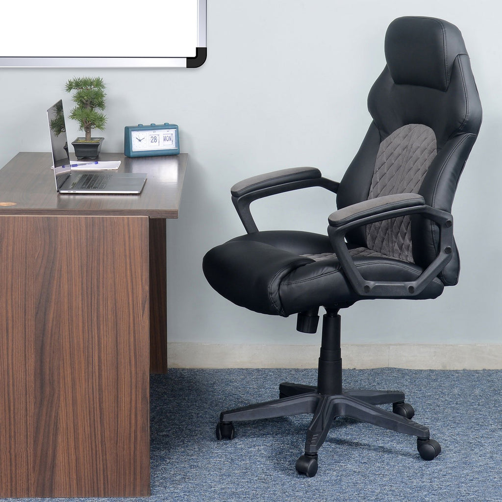 Nilkamal Lyon High Back Office Chair (Black).