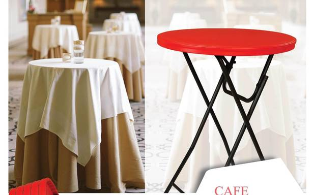 Supreme Cafe Blow Mould Dining Table (2.6 Feet Dia x 3.6 Height) Round - HOMEGENIC