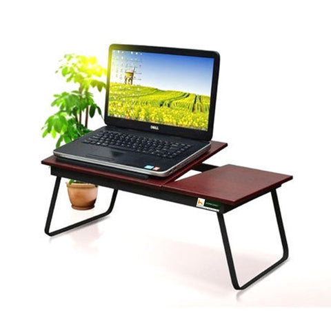 EeezyGo Folding Laptop Bed Desk & Multipurpose Table (Walnut) Medium - HOMEGENIC