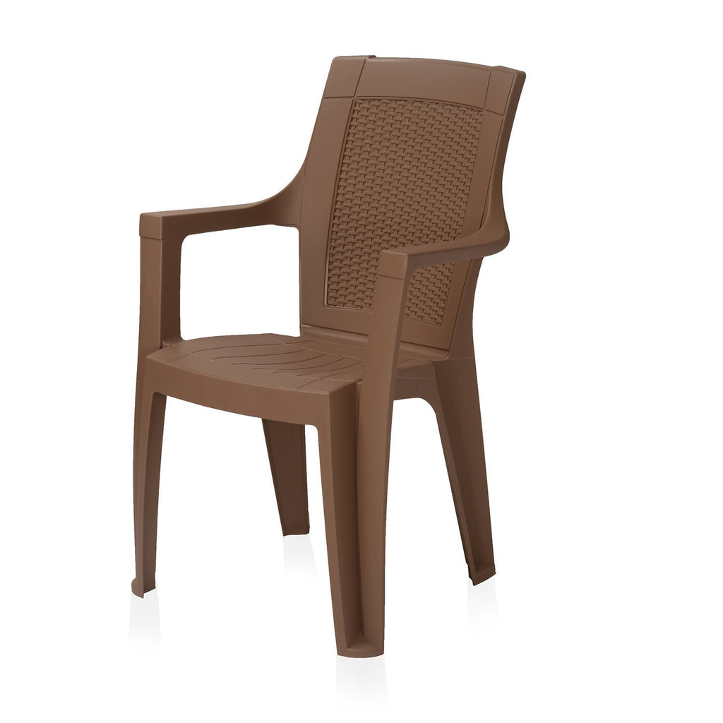 Nilkamal Mystique High Back Chair with Arm (RDB) - HOMEGENIC