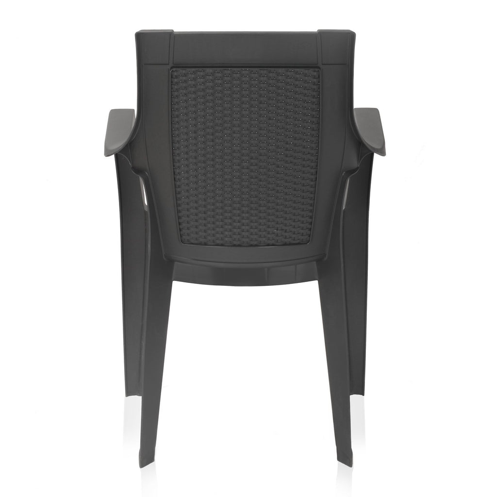 Nilkamal Mystique High Back Chair with Arm (Charcoal Grey) - HOMEGENIC
