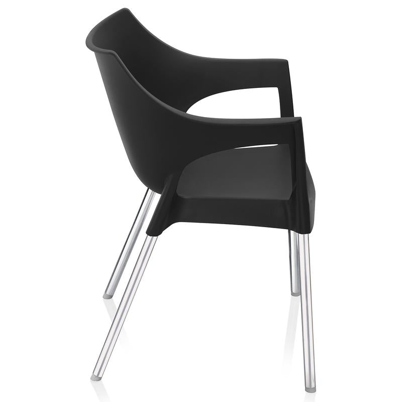 Nilkamal Novella 10 SS Chairs (Black)