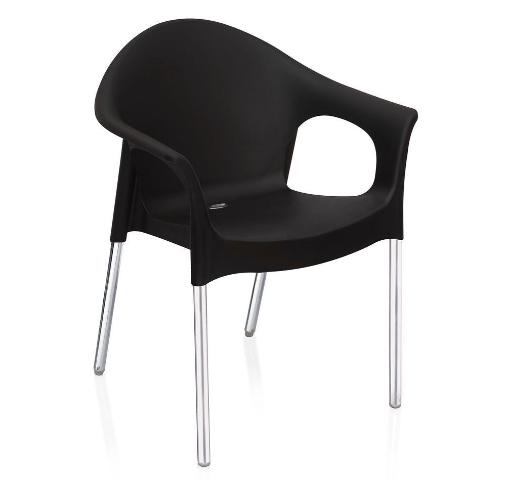 Nilkamal Novella 09 Chair (Iron Black) - HOMEGENIC