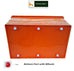 Nilkamal Stackable Storage Box 50 Ltr. with Wheels (Orange-Yellow) 1 Pc - HOMEGENIC