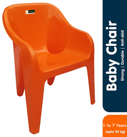Homegenic Maggie Kids Plastic Chair- Strong and Durable