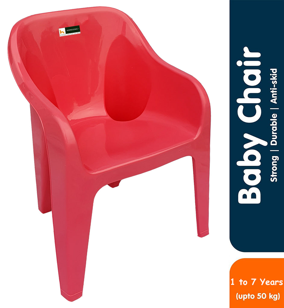 Homegenic Maggie Kids Plastic Chair- Strong and Durable - HOMEGENIC
