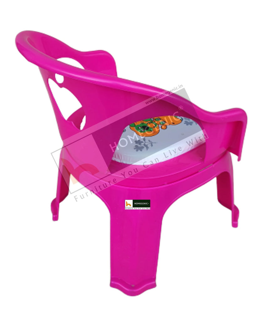 Homegenic Apple Kids Plastic Chair- Strong and Durable with Seating Whistle Buzzer - HOMEGENIC