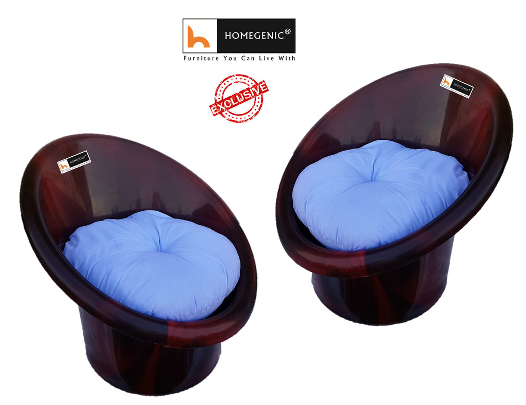 Homegenic Tub Chair with Cushions Set of 02 - HOMEGENIC