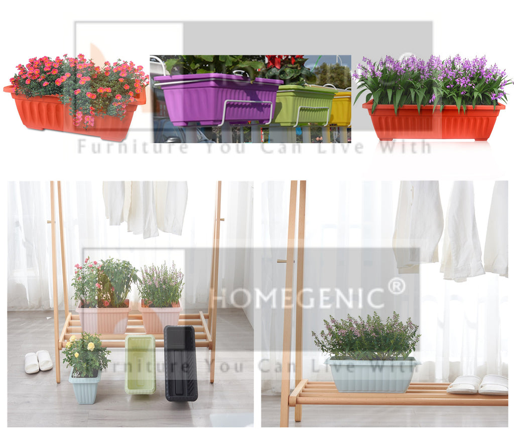 Homegenic UV Treated Rectagular And Square Plastic Planter (Without Bottom Tray) - HOMEGENIC