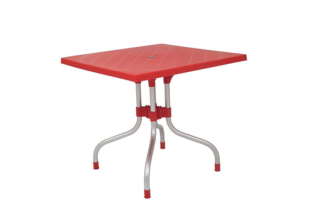 Olive Square Dining Table Round (Red) - HOMEGENIC