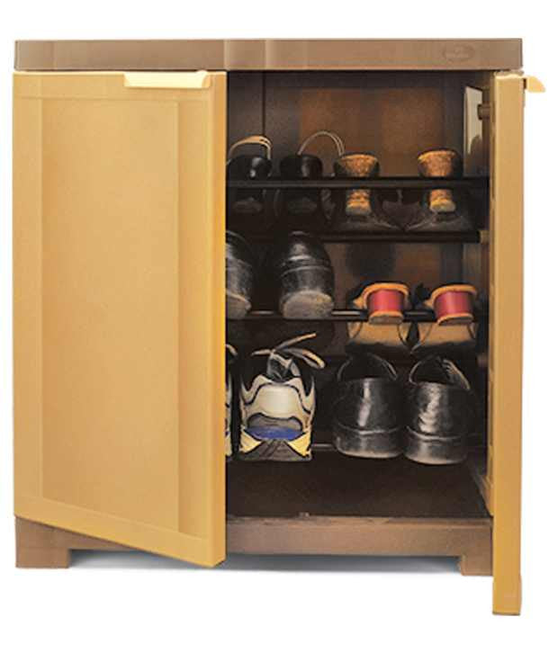 Nilkamal Freedom Shoe Cabinet( Sandy Brown) - Small - HOMEGENIC