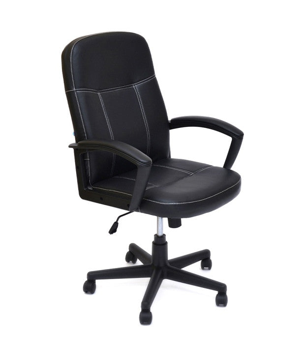Nilkamal Mayor High Back Office Chair (Matte Finish, Black)