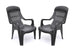 Nilkamal Weekender Relax Chair (Black) - Set of 4 pcs - HOMEGENIC