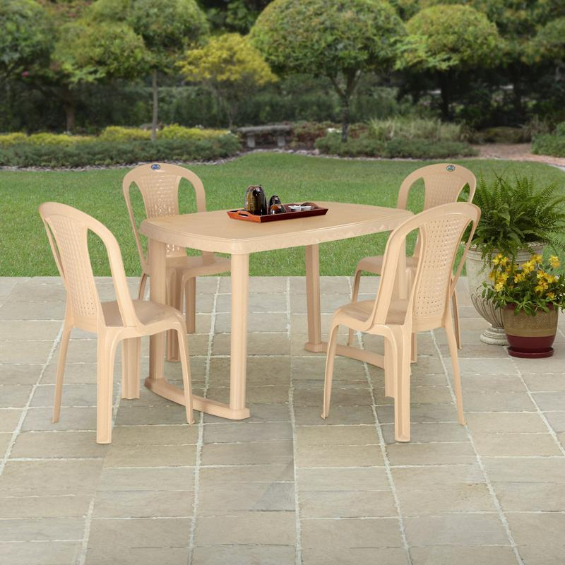 Nilkamal Shahenshah Dining Table Set with 4 Chairs