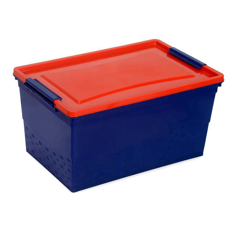 Nilkamal Storage Box 50 Ltr (Pepsi Blue and Gem Red)