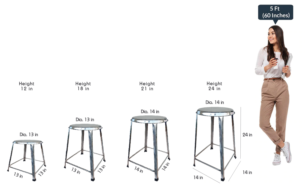 Rally Steel Multipurpose Stool for Home SS202.