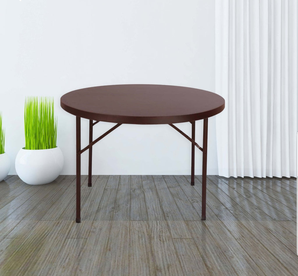 Supreme Disc Blow Mould Dining Table (3.5 Feet Dia.) Round - HOMEGENIC