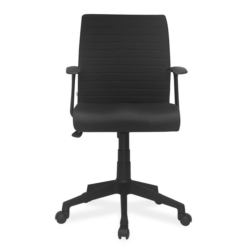 Nilkamal Thames Low Back Fabric Chair (Black)