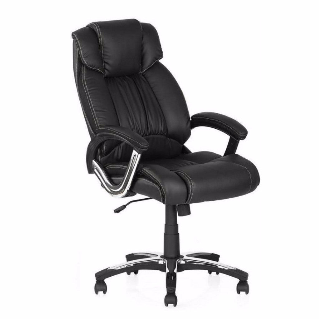 Nilkamal Trenvi Office Chair (Black) - HOMEGENIC