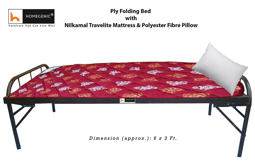 Smart Plywood Folding Guest Bed With Complimentary
