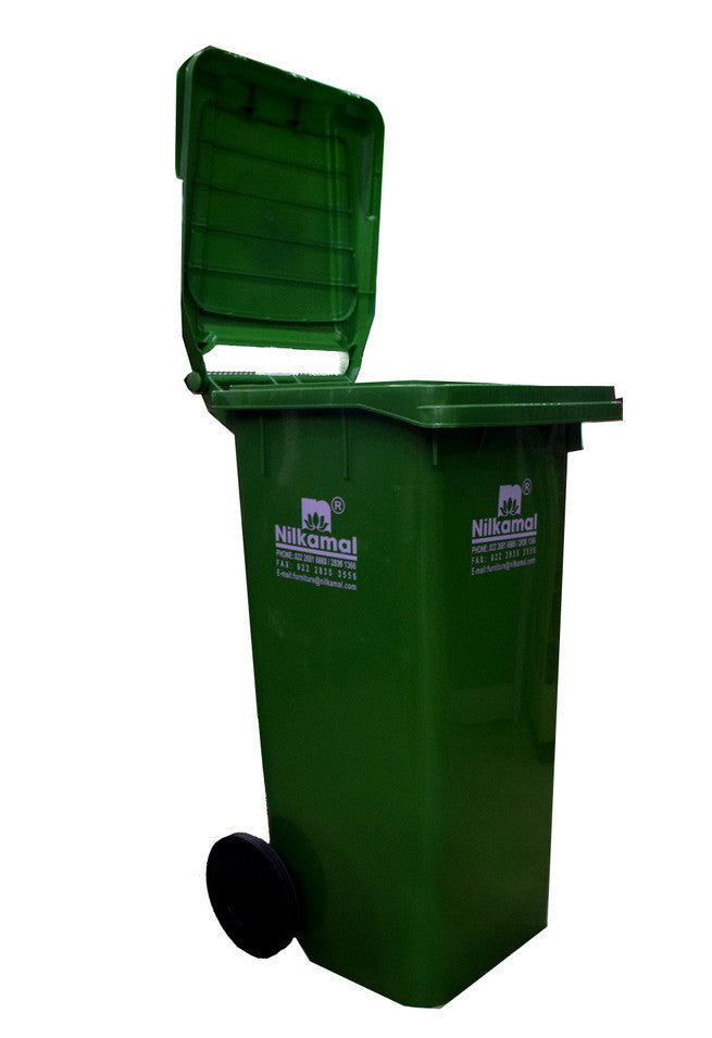 Nilkamal Waste Bin 120 Ltr. ( Olive Green) - HOMEGENIC