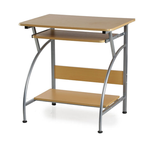 Nilkamal Vibe Computer Desk (Glossy Finish, Beech) - HOMEGENIC