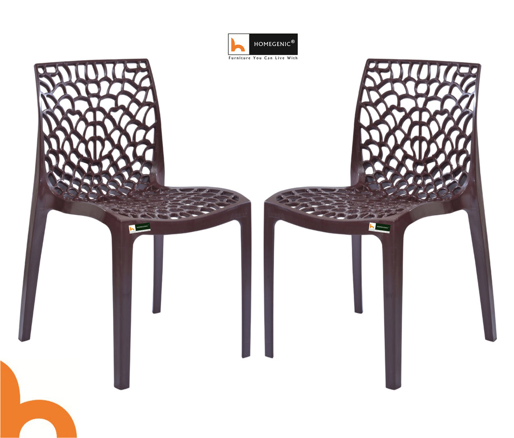 Spider Web Plastic Chairs PP Material - HOMEGENIC